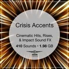 The Crisis Accents sound fx bundle gathers clips of aggressive and powerful rises, stings, attacks. 410 sound fx in gigabytes of audio. Sound Design, Sound Effects, Libraries, Audio, Library Room, Bookcases, Bookstores