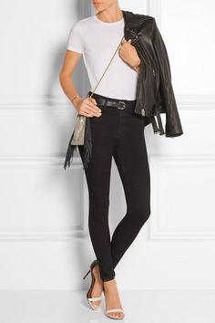 Alexa Chung For AG Jeans|The Hynes high-rise skinny jeans|NET-A-PORTER.COM