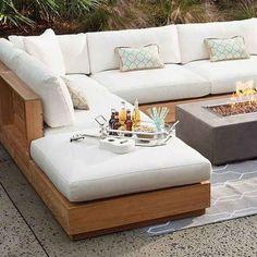 61 Ideas Pallet Furniture Diy Patio Outdoor Sectional For 2019 Outdoor Sofa, Best Outdoor Furniture, Outdoor Living, Outdoor Sectionals, Diy Living Room Furniture, Pallet Furniture, Furniture Design, Farmhouse Furniture, Furniture Ideas