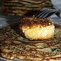 Pancakes aux épinards et chèvre chaud
