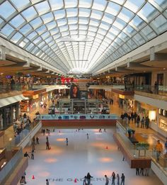 To go to The Galleria Mall- Houston : Done! It's HUGE!!