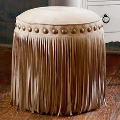 Junk Gypsy Austin Fringe Vanity Stool  reg. price $219 SPECIAL $179 Visit bit.ly/junkgypsycollection Or call 1-866-472-4001 to pre-order this item.