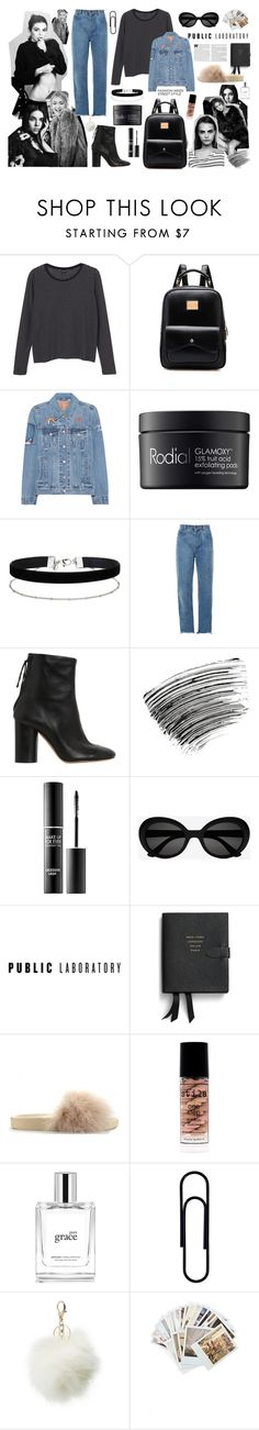 """Vintage Feels With Kendall, Gigi & Cara"" by jennytrends ❤ liked on Polyvore featuring Monki, Levi's, Rodial, Miss Selfridge, Chloé, Isabel Marant, Bobbi Brown Cosmetics, MAKE UP FOR EVER, Yves Saint Laurent and Smythson"