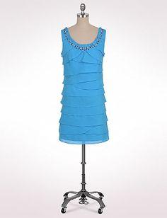 Tiered Bead Neck Dress