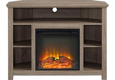Corona Brown 44 in. Console with Electric Fireplace - Home Entertainment Dark Wood Furniture, Home Theater Seating, Swivel Tv Stand, Fireplace Tv, Home Theater Setup, Classic Furniture, Fireplace Tv Stand, Walker Edison, Fireplace