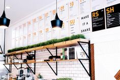 Designed by Bells & Whistles - Cold Pressed Juice Bar  in West Hollywood - Clean, fresh, simple. | California Home + Design