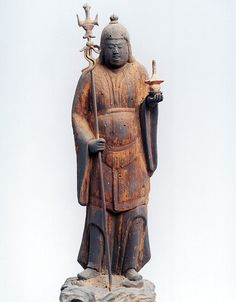 毘沙門天立像 Buddhist Art, Asian Art, Buddhism, Namaste, Mythology, Sculptures, Japanese, Statue, Coffee