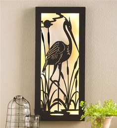 Main image for Lighted Crane Wall Art