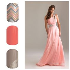 Pink and silver:  From the top - Once Upon a Time, Grapefruit, Champagne Toast