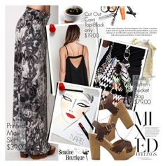 """""""Mixed Feelings"""" by seaside-boutique ❤ liked on Polyvore featuring Borghese, Mojo Moxy and Creatures Of The Wind"""