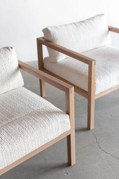 Sofa Design, Chair Design Wooden, Interior Design, Lounge Chair Design, Interior Colors, Diy Sofa, Diy Chair, Chair Bed, Wood Arm Chair