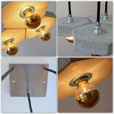 Diy Hanging, Hanging Lights, Wall Lights, Concrete Light, Concrete Lamp, Solar Licht, Best Desk Lamp, Diy Concrete Planters, Steel Canopy