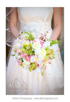 flowers by tina barrera photo by artisan photography  green orchids, pink roses