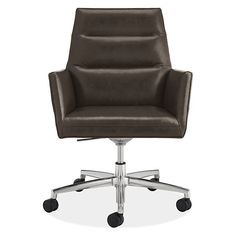 Tenley Leather Office Chair - Modern Office Chairs & Task Chairs - Modern Office Furniture - Room & Board