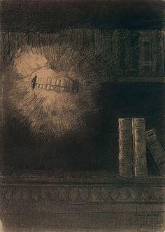 The Teeth (1883) – Odilon Redon (French, 1840–1916)