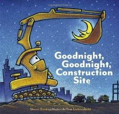 As the sun sets behind the big construction site, all the hardworking trucks get ready to say goodnight. One by one, Crane Truck, Cement Mixer, Dump Truck, Bulldozer, and Excavator finish their work and lie down to rest—so they'll be ready for another day of rough and tough construction play! With irresistible artwork by best-selling illustrator Tom Lichtenheld and sweet, rhyming text, this book will have truck lovers of all ages begging for more.