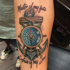 olio: Anchor Compass Little Animation Nautical Tattoo by Tyler from Lucky Bird Tattoo And Piercing - Annapolis, MD. Find a local tattoo shop near you in our Tattoo Artist and Studio Directory Navy Tattoos, Sailor Tattoos, Feather Tattoos, Trendy Tattoos, Tattoos For Guys, Anchor Tattoos For Men, Tatoos, Tattoos Pics, Sunset Tattoos