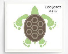Footprint Sea Turtle