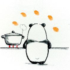 【一日一大熊猫】 2015.3.25 テレビで料理を作っているのを見て 自分でも作ってみたくなり挑戦しているよ。 できる限り時間をかけずにがテーマだね。 #お料理