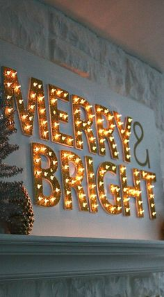 DIY Christmas Light Up Marquee . For indoor use. We already have all the materials to make this one. I could do Noel and use color lights on silver letters