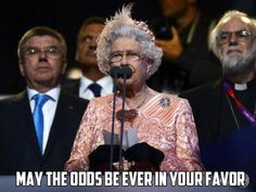 The Queen's message to the Olympic archers. #HungerGames