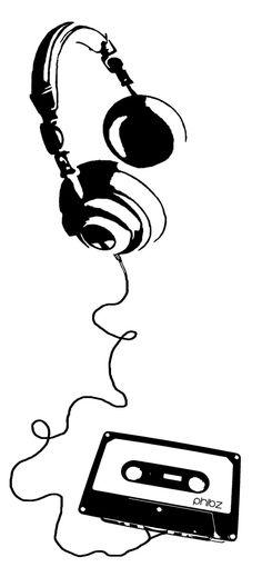 Black Wallpaper iPhone Black Wallpaper iPhone : Mix Tape Headphones Stencil by afivos Musik Wallpaper, Black Wallpaper Iphone, Book Wallpaper, Trendy Wallpaper, Headphones Tattoo, Music Headphones, Music Guitar, Art Music, Mixtape