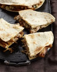 Chicken Quesadillas with Blue Cheese and Caramelized Onions Recipe from Food & Wine