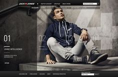 Jack & Jones — Lifestyle inspiration,  By Anders Hojland Mikkelsen, Front end development by Relax, we are the good guys  shop.jackjones.com