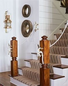 Decorating with rope on pinterest ropes for Nautical rope decorating ideas