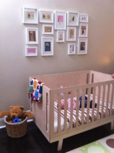 Tina and her husband Colin have wanted to turn this junk room into a nursery for a while for their daughter Daphne White Photo Frames, Better Homes And Gardens, Photo Displays, Cribs, Toddler Bed, Gallery Wall, Home And Garden, Challenges, Nursery