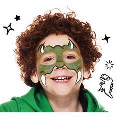 Guía de Maquillaje de Dinosaurio| Snazaroo.es