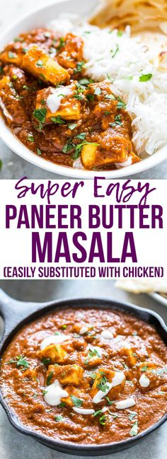 Easy recipe for Indian restaurant style paneer butter masala (paneer makhani curry), made with homemade cottage cheese! This is easy Indian food that can be made in your kitchen. I love serving this with parathas and jeera rice.