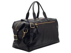 Brixton Black Leather Overnight Bag | Ernest Alexander. $895