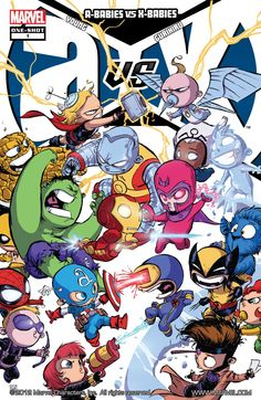 A-babies vs X-babies by Skottie Young.