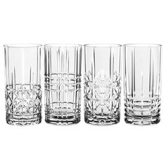Featuring 4 stunning patterned designs, these Nachtmann Highland Long Drink Glasses are ideal for enjoying a wide variety of beverages.