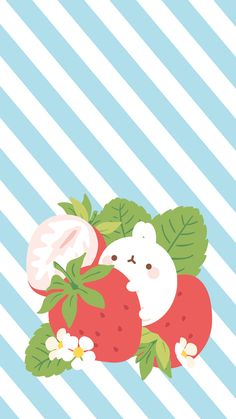 Cute Wallpaper Backgrounds, Pretty Wallpapers, Computer Wallpaper, Cute Food Wallpaper, Kawaii Wallpaper, Girls Night Crafts, Minimalist Wallpaper, Molang, Red Art