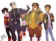 A bunch of saviors of the Universe ;) Voltron - Legendary Defender © Netflix, Art © Giulia Lomurno