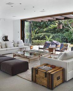 Living space: fold away doors, open space