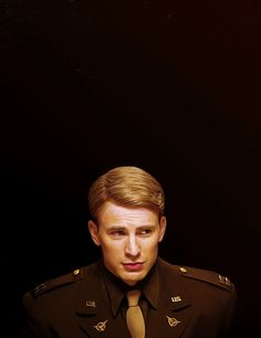 Chris Evans (Captain America) - Powers that be, this should be today's Army's uniform style.