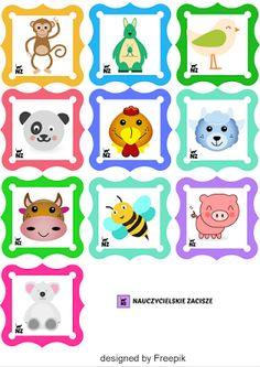 etykiety do szatni, na szafki labels, preschool, kindergarten, free to download
