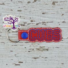 Cubs Snap Tab Key Chain by WhimsicalWillowLLC on Etsy