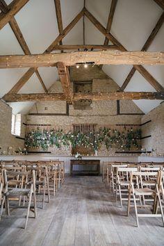 romantic English barn ceremonies - photo by Hayley Savage Photography http://ruffledblog.com/intimate-quintessentially-british-wedding