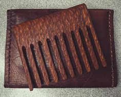 Check out this #lacewood comb made by Trey. #woodencomb #beardcomb #wood #handmade #diy #handcrafted #backroads #skill #woodshop #woodworking