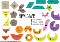 Free online course on shawl design helps you navigate through the jungle of shawl shapes #knitting #design