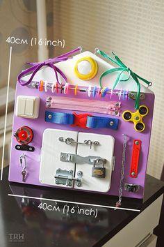 Tablero de ocupado, juguetes de madera, actividad de tablero, tablero sensorial, Montessori educativas habilidades motoras finas de juguete, juguetes de madera, tablero para niños pequeños y bebés TABLEROS OCUPADO ABOUABOUT El tablero ocupado es una gran herramienta de desarrollo y un