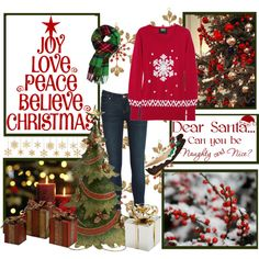 """""""Christmas sweater"""" by haldermania on Polyvore"""