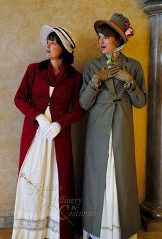 04454e6226e CUSTOM Regency Jane Austen dress Spencer Jacket Pelisse Redingote in Red  twill