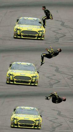 Carl Edwards backflip!  He's so badass!  :)