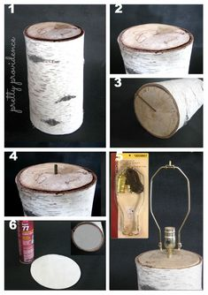 DIY Aspen Based lamp! .. I always loved the rustic feel of these lamps, but to buy one is absurdly expensive, I'm so excited!