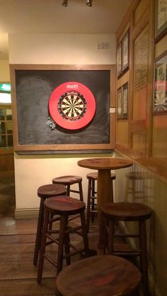 Really cool set-up. Can't go wrong with a dart board.